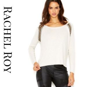 Rachel Roy embellished Tulip back sweater